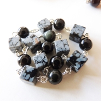 Rainbow and Snowflake Obsidian