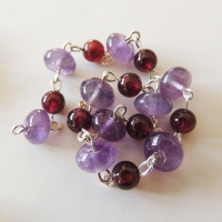 Dog Tooth Amethyst and Red Garnet