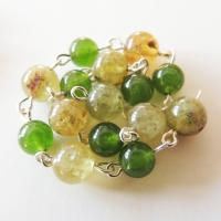 Green Garnet and Jade
