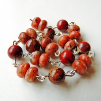 Red Poppy Jasper and pinky/orange stone