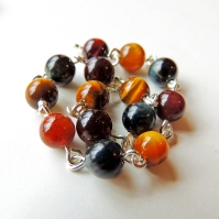 Mixed Tiger's Eye (yellow, red, blue)